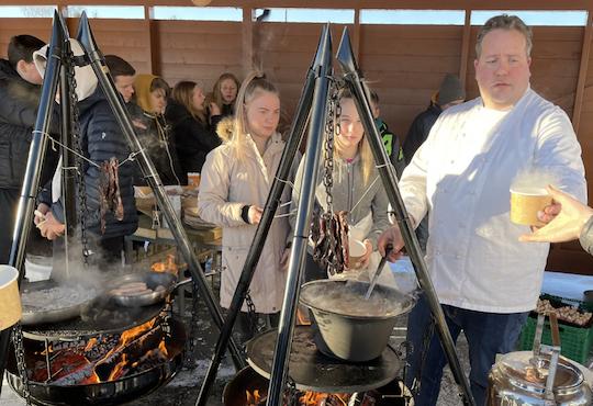 Hundreds of students celebrated the Trøndelag Food Manifesto